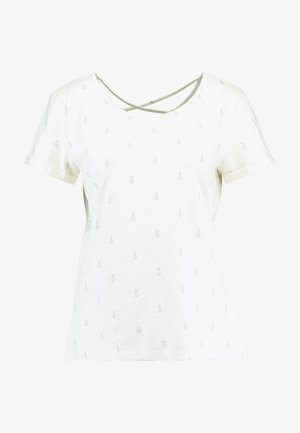 FOIL ALLOVER - Camiseta estampada - offwhite