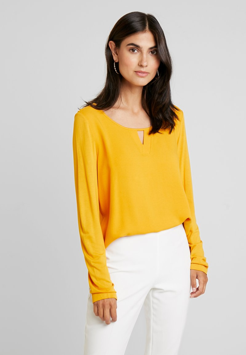 TOM TAILOR - CREW NECK - Blouse - merigold yellow