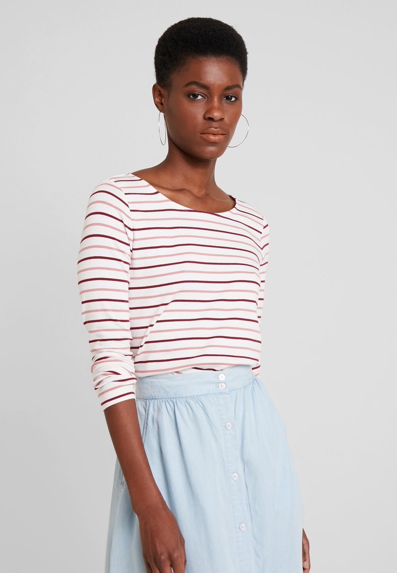 TOM TAILOR - STRIPED - T-shirt à manches longues - offwhite/rose/red