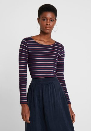 STRIPED - T-shirt à manches longues - navy/red/rose/blue