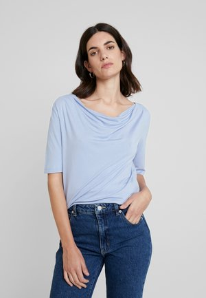 Print T-shirt - parisienne blue