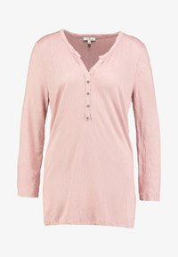 TOM TAILOR - STRUCTURE CRINCLE - Long sleeved top - rose/white - 3