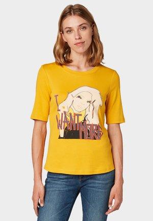 Print T-shirt - merigold yellow