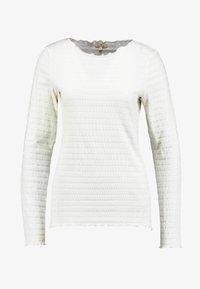 TOM TAILOR - STAND-UP COLLAR - Long sleeved top - whisper white - 3