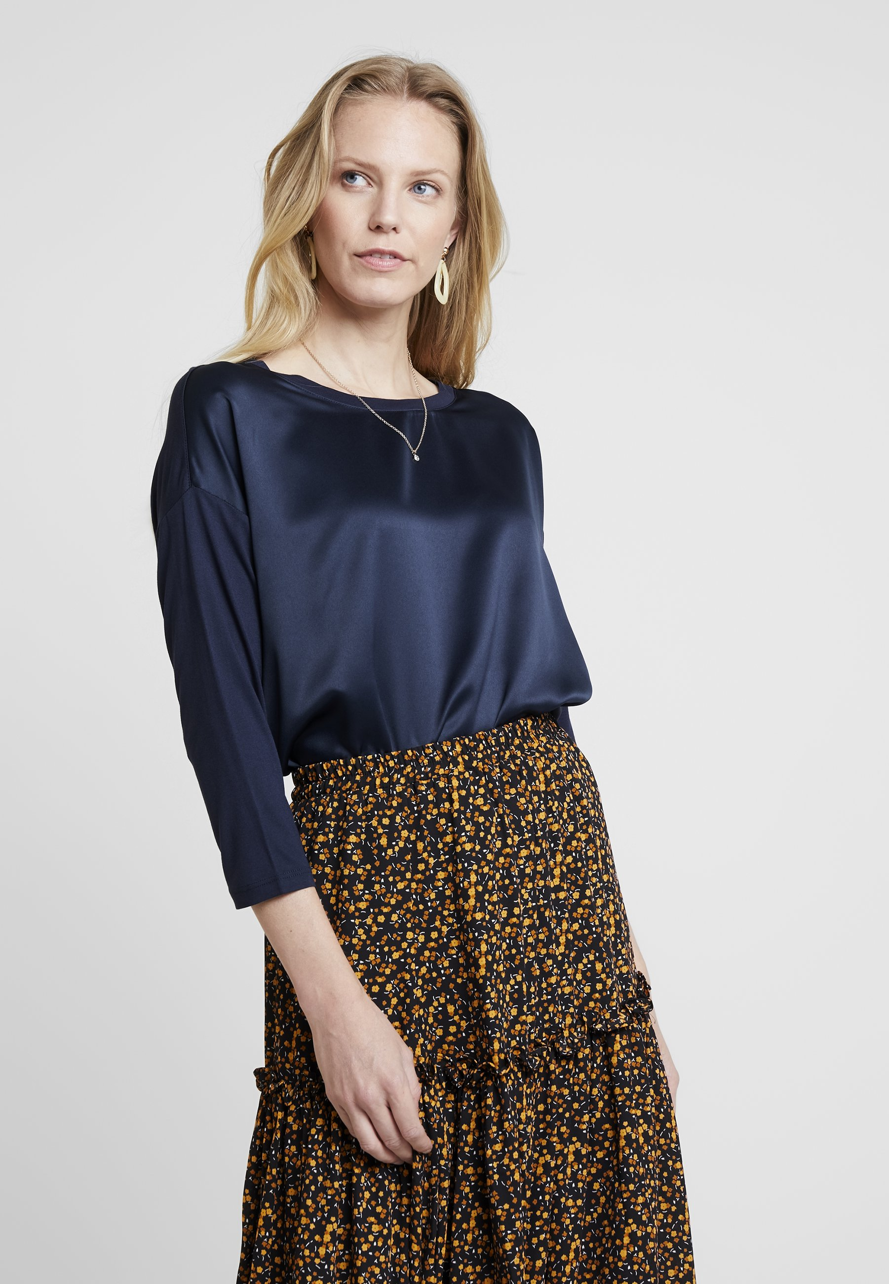 Tom Blue Fabric MixBlouse Sky Tailor Captain Ygb6y7f