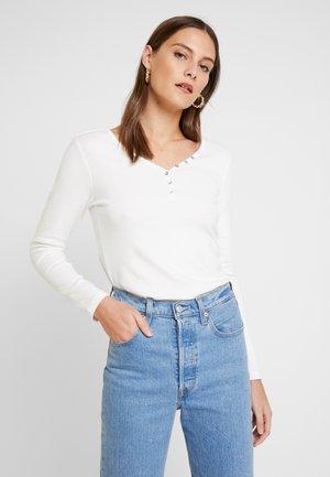 HENLEY - Long sleeved top - whisper white