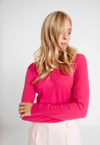 TOM TAILOR - HENLEY - Maglietta a manica lunga - dawn pink - 0