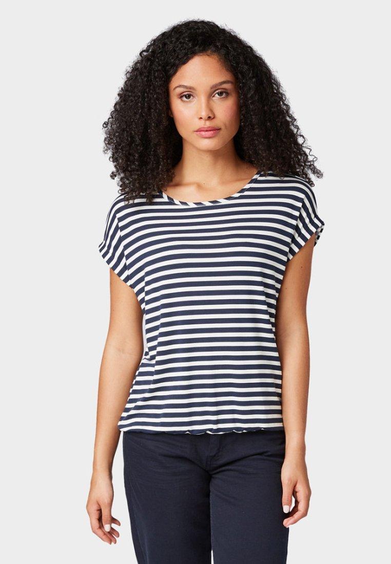 TOM TAILOR - T-Shirt print - navy