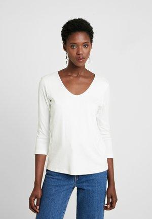 DOUBLE FRONT - Långärmad tröja - whisper white