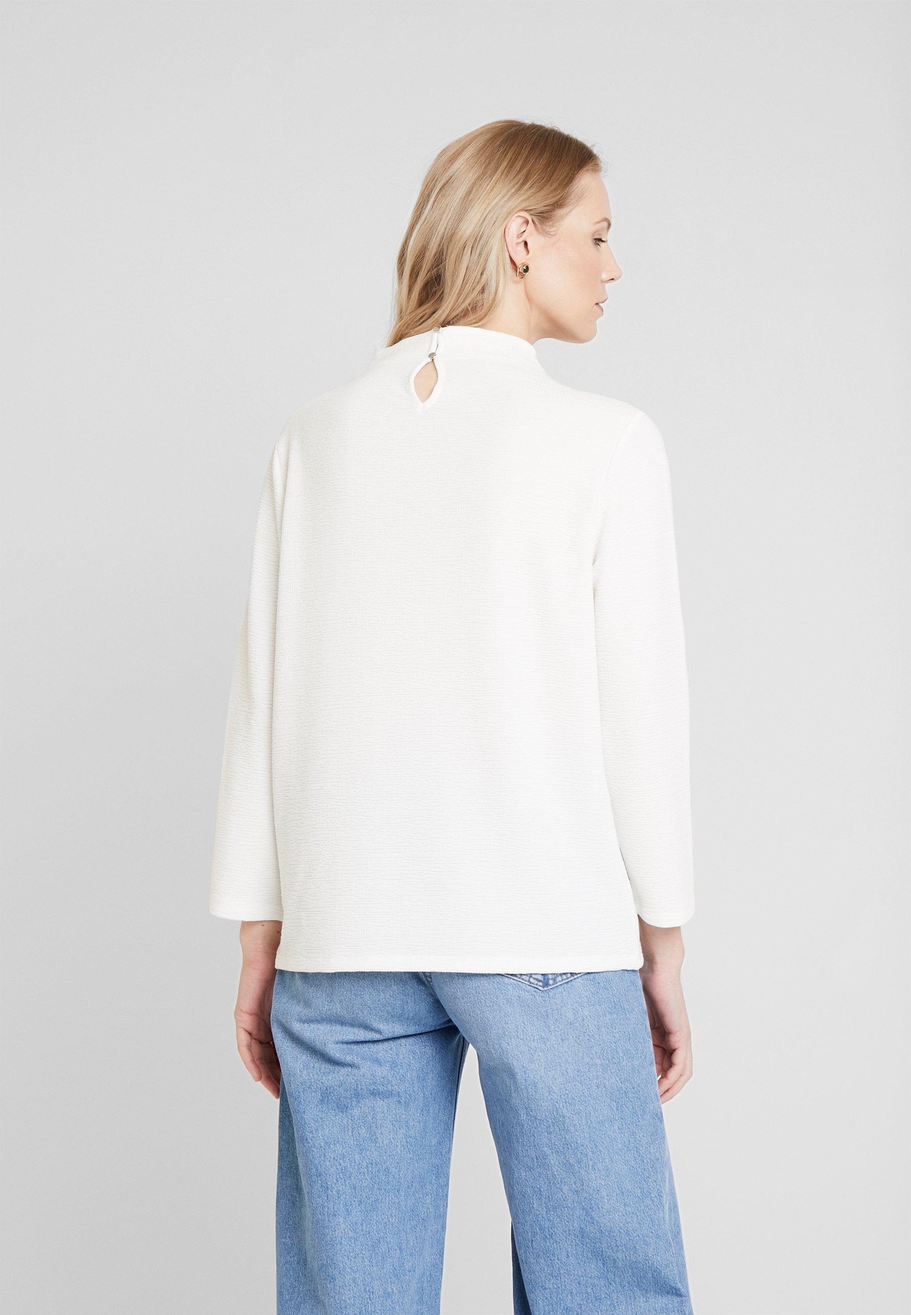 TOM TAILOR STRUCTURE - Langarmshirt whisper white