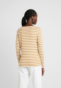 TOM TAILOR - BASIC STRIPED - T-shirt à manches longues - offwhite/camel brown - 2