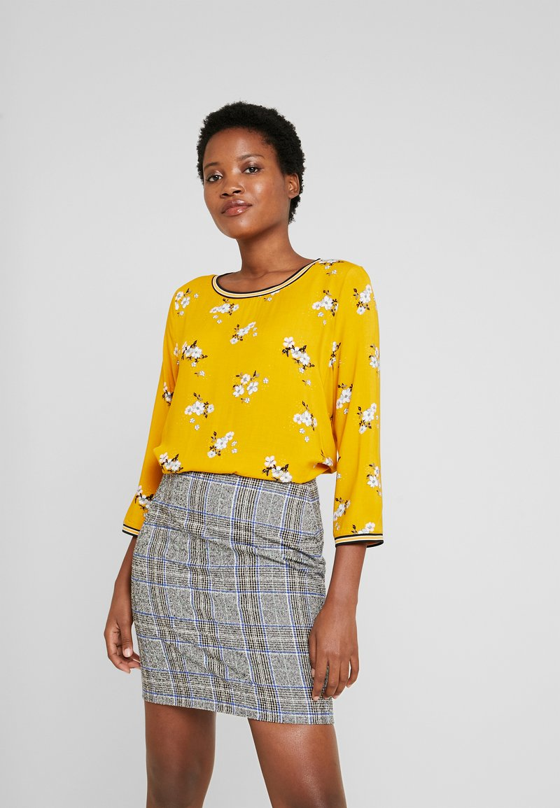 TOM TAILOR - FABRIC PRINT MIX - Blouse - yellow