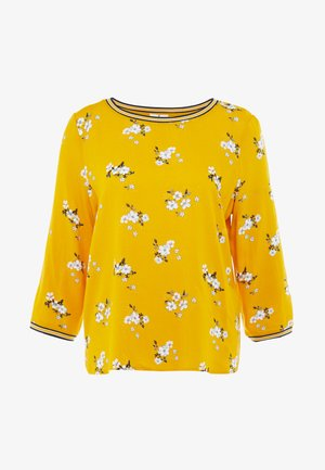 FABRIC PRINT MIX - Blouse - yellow