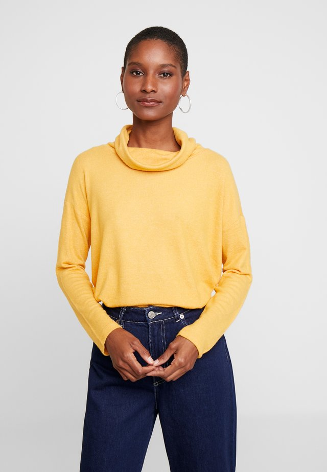 COSY LONGSTYLE - Sweter - merigold yellow melange