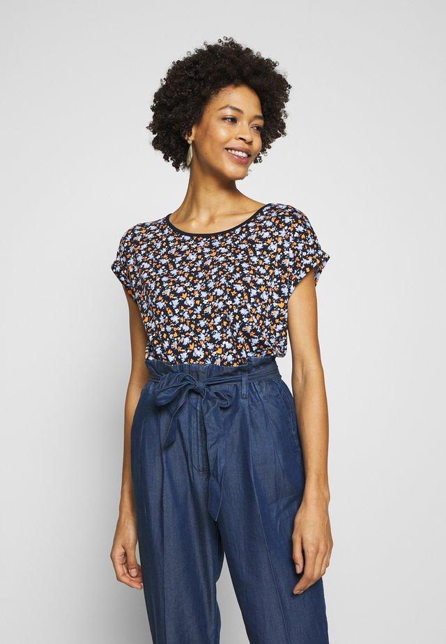 T-SHIRT STRIPED CREW-NECK - T-shirts med print - navy blue