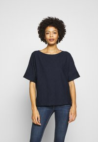 TOM TAILOR - MODERN STRUCTURE - T-shirts - sky captain blue - 0