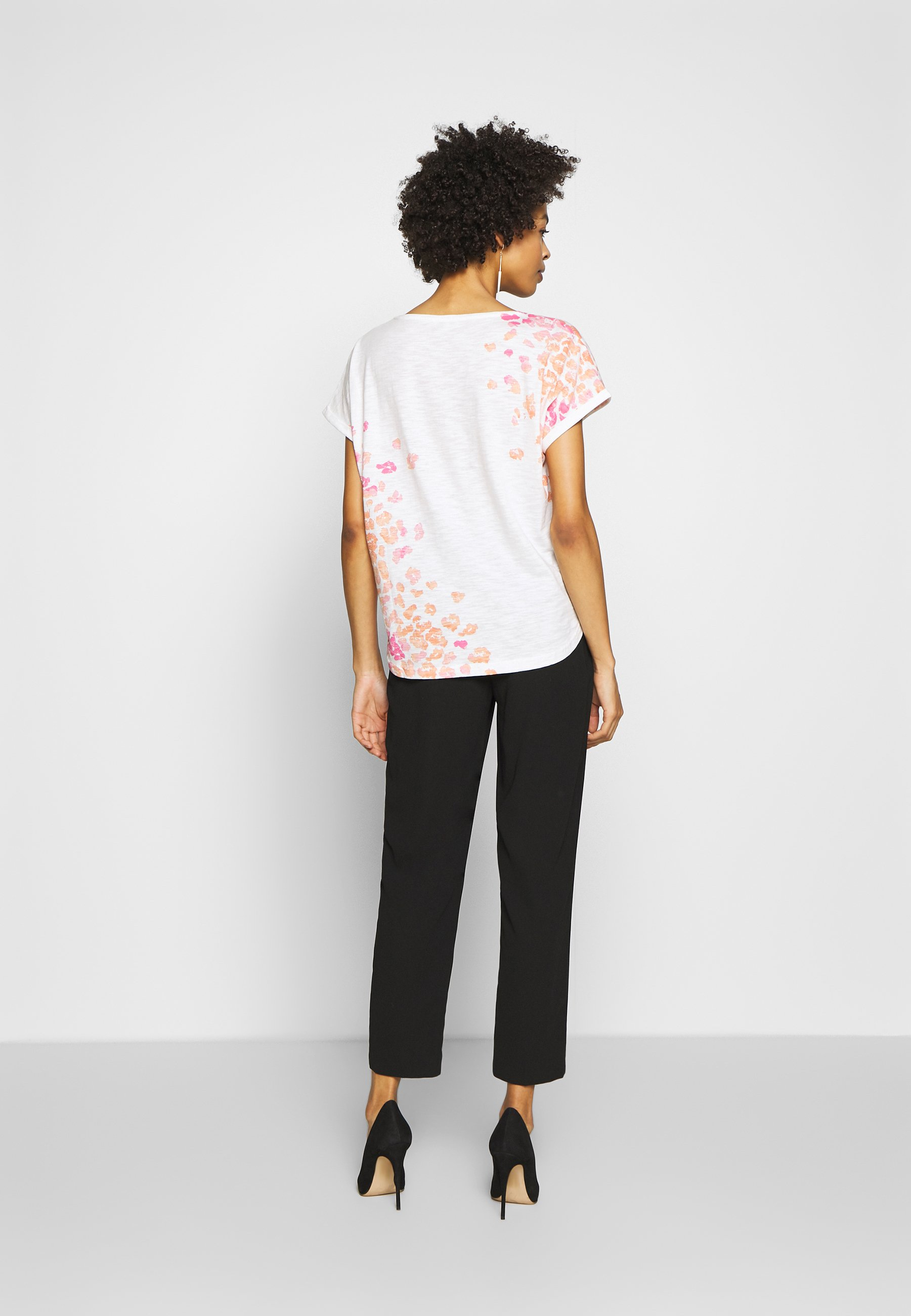 TOM TAILOR SLUB PLACED PRINT - T-shirts med print - whisper white