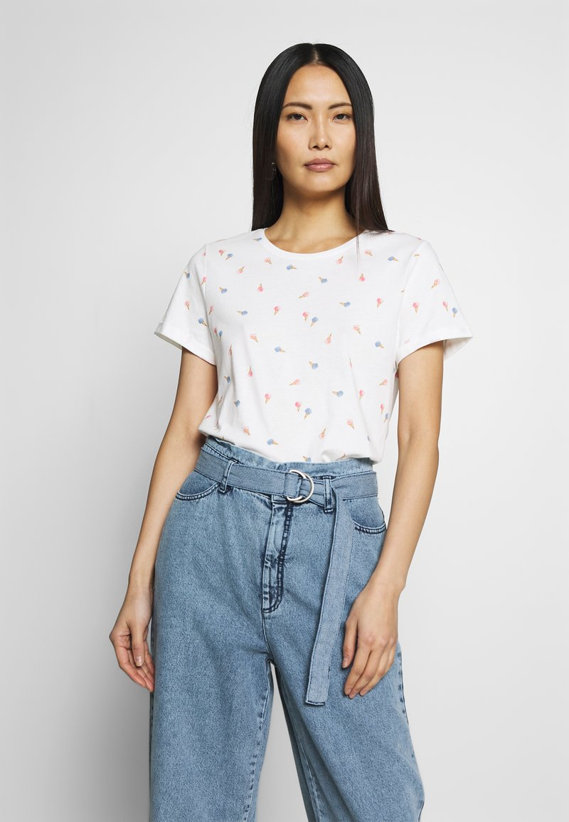 TOM TAILOR - SUMMER FRONT PRINT - T-shirt z nadrukiem - offwhite