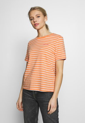 T-shirts med print - melon/offwhite