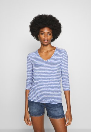 Long sleeved top - blue striped