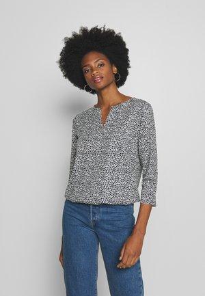 Long sleeved top - offwhite navy/minimal grey