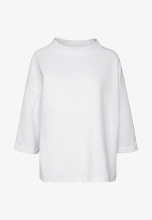 BOXY STAND UP COLLAR - Maglietta a manica lunga - whisper white