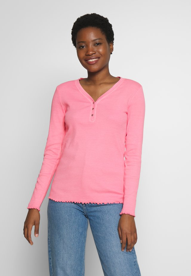 Bluzka z długim rękawem - pink