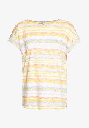 INSIDE STRIPE - T-shirt z nadrukiem - yellow/multicolor