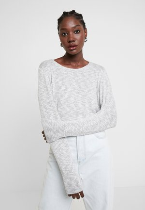 COSY KNOT - Sweter - silver grey melange