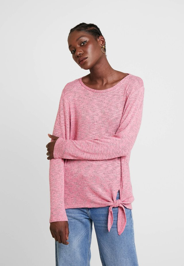 COSY KNOT - Sweter - charming pink melange