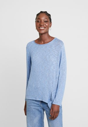 COSY KNOT - Sweter - blue white structure