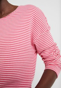 TOM TAILOR - Long sleeved top - pink stripe structure - 4