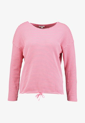 Langærmede T-shirts - pink stripe structure