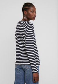TOM TAILOR - SLUB CREW NECK - Topper langermet - navy blue - 2