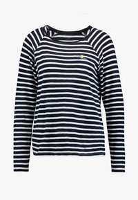 TOM TAILOR - SLUB CREW NECK - Topper langermet - navy blue - 3