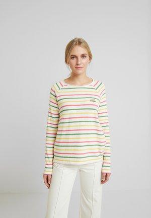 SLUB CREW NECK - Maglietta a manica lunga - offwhite/multicolor