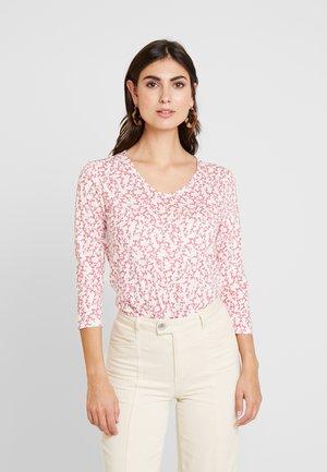 Long sleeved top - pink flowery