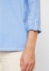TOM TAILOR - OVERDYE - Bluzka z długim rękawem - sea blue - 4