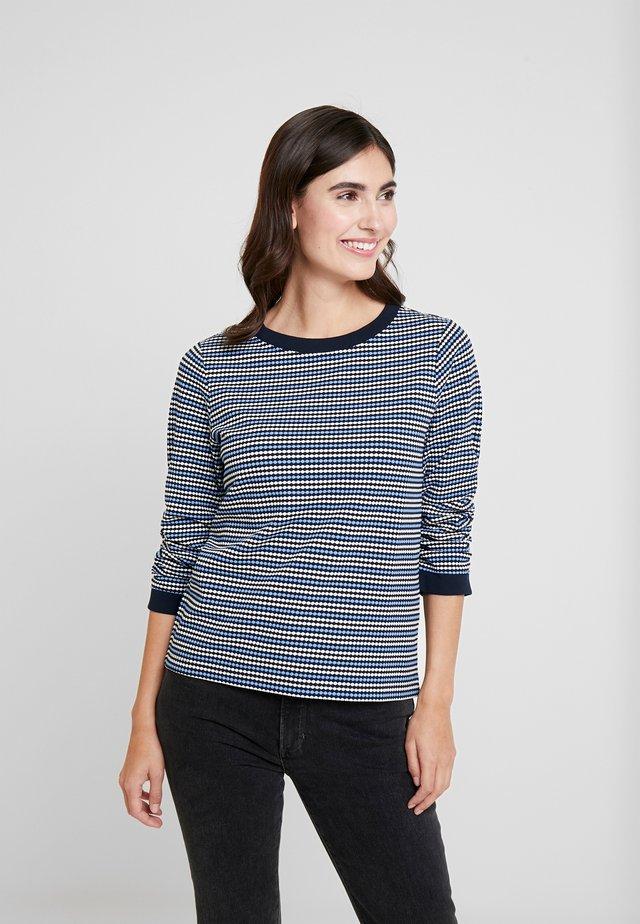 CREW NECK - Bluzka z długim rękawem - blue/white