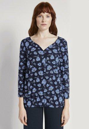 Blouse - mottled dark blue