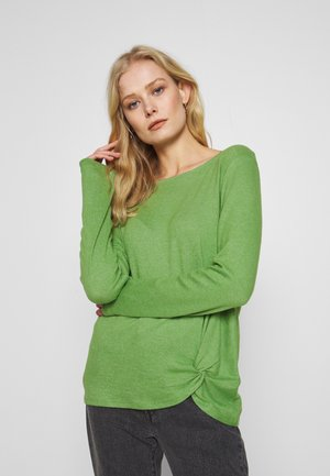 Jumper - sundried turf green melange