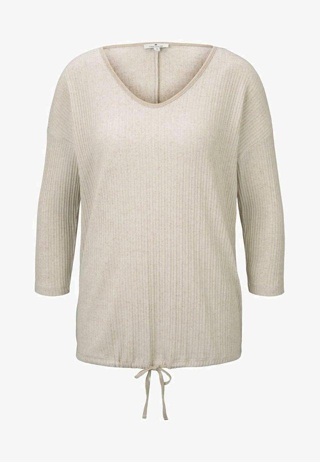 MIT KORDELZUG - Pitkähihainen paita - sand beige melange