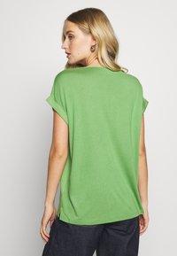 TOM TAILOR - T-SHIRT FABRIC MIX PLACKET - Bluzka - sundried turf green - 2