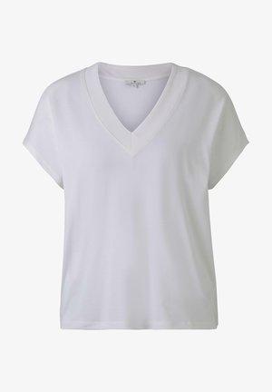 MIT V-AUSSCHNITT - T-shirt basique - whisper white