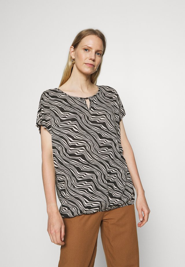 CRINCLE - Print T-shirt - black