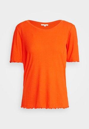 WIDE CREW NECK - T-shirt basique - strong flame orange