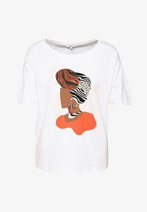 FRONTPRINT OVERSIZED - Print T-shirt - whisper white