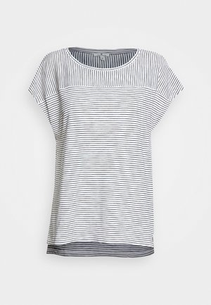 STRIPED - Camiseta estampada - offwhite