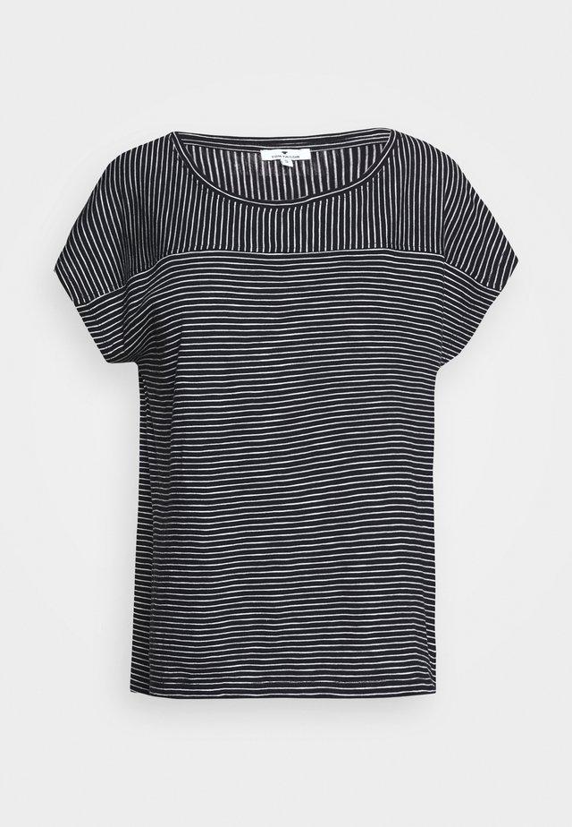 STRIPED - T-shirt print - black