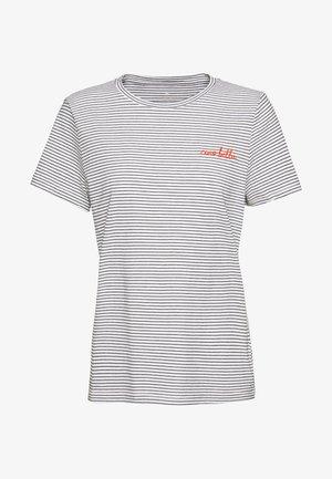 BASIC CREW NECK - T-shirt z nadrukiem - offwhite